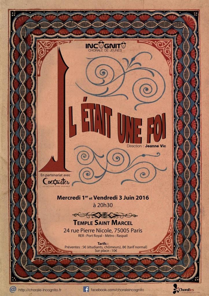 Concert chorale Incognito Juin 2016